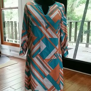 Peaches and Cream 3/4 sleeve dress